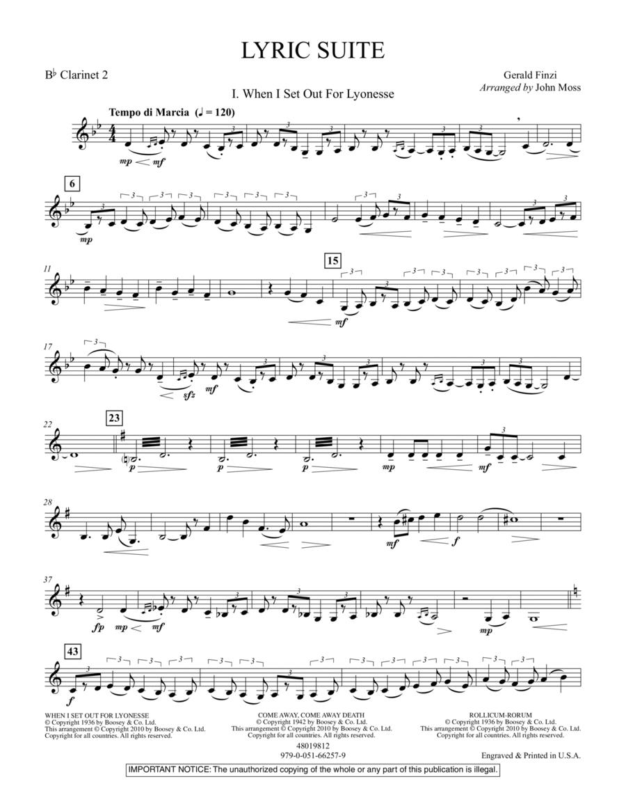 Lyric Suite - Bb Clarinet 2