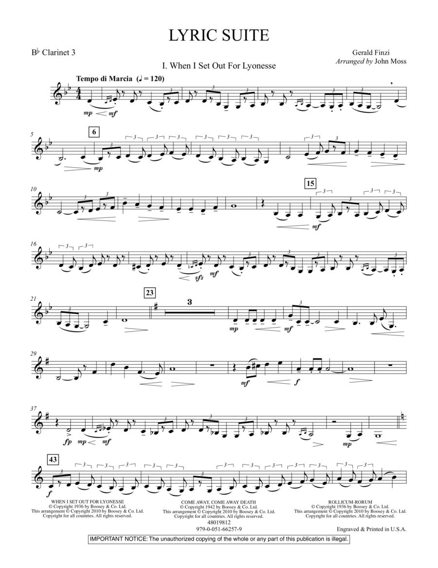 Lyric Suite - Bb Clarinet 3