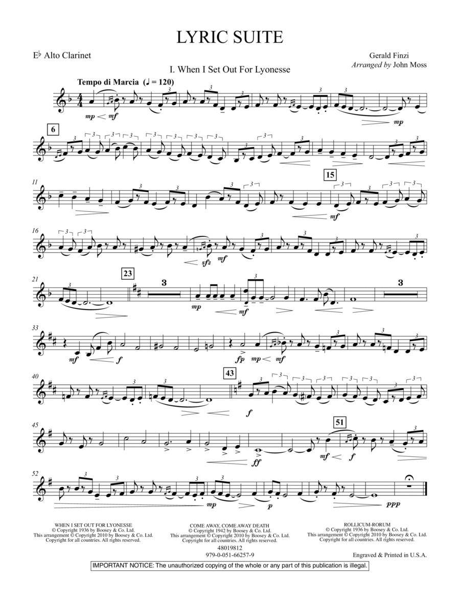Lyric Suite - Eb Alto Clarinet