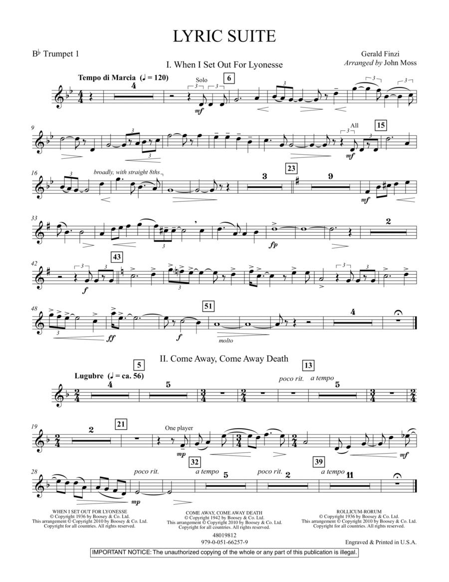 Lyric Suite - Bb Trumpet 1
