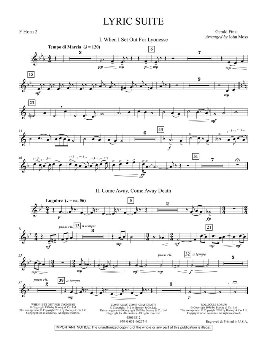 Lyric Suite - F Horn 2