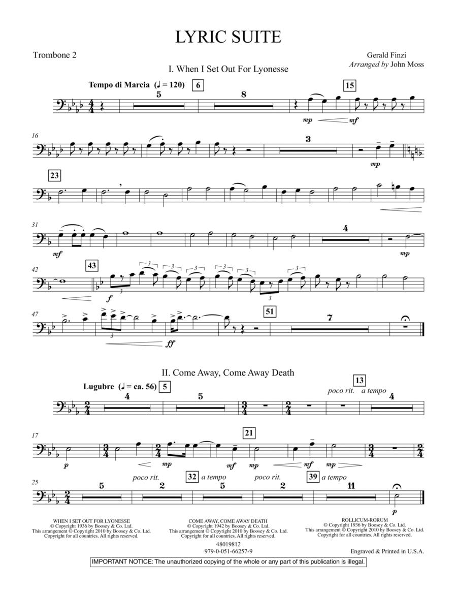Lyric Suite - Trombone 2