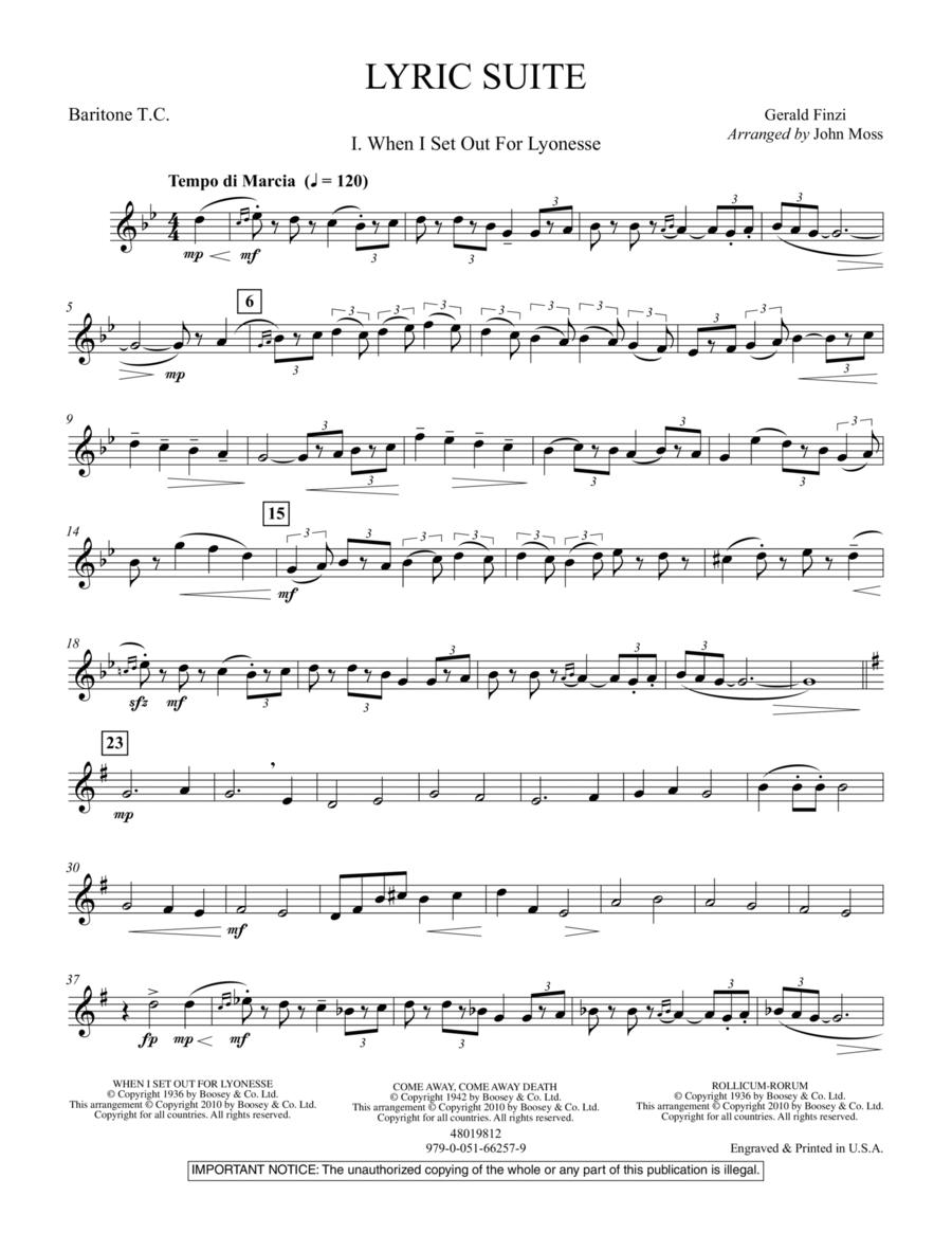 Lyric Suite - Baritone T.C.