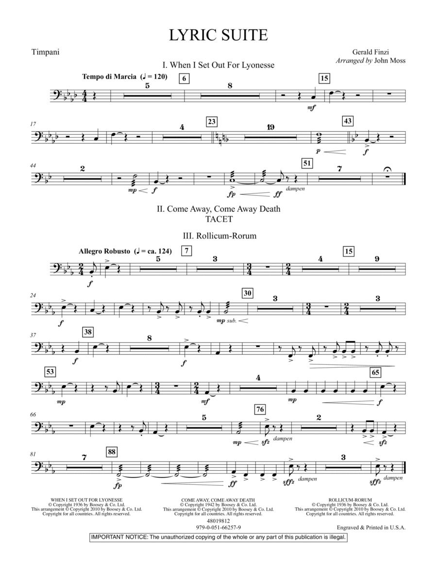 Lyric Suite - Timpani