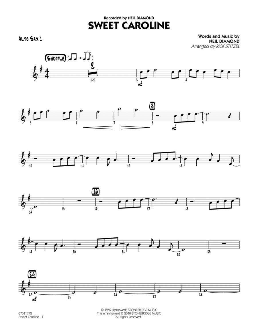 Sweet Caroline - Alto Sax 1