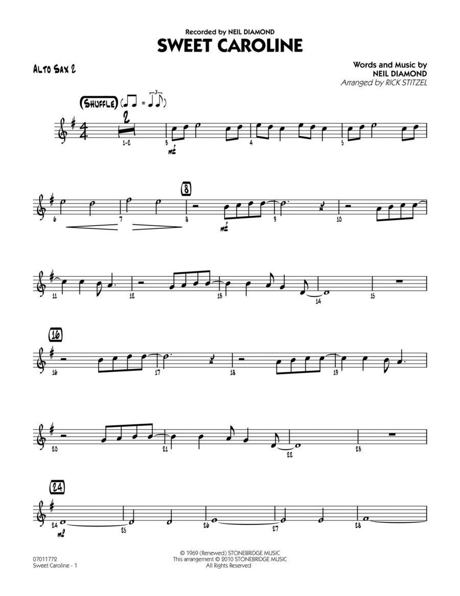 Sweet Caroline - Alto Sax 2