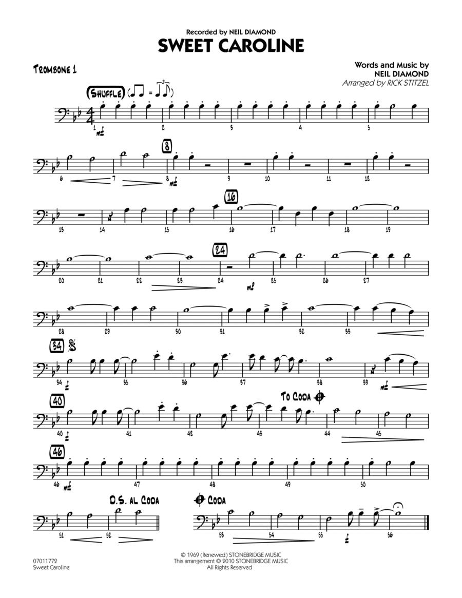Sweet Caroline - Trombone 1