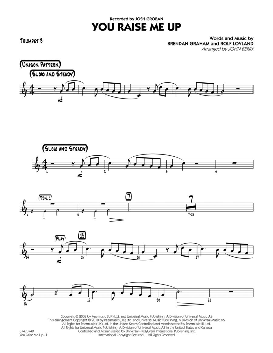 You Raise Me Up - Trumpet 3