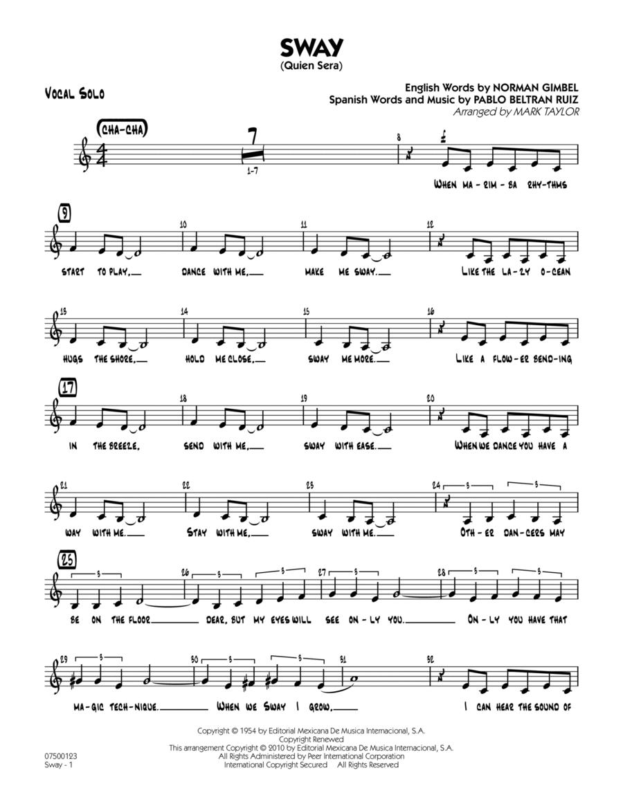 Sway (Quien Sera) - Vocal Solo