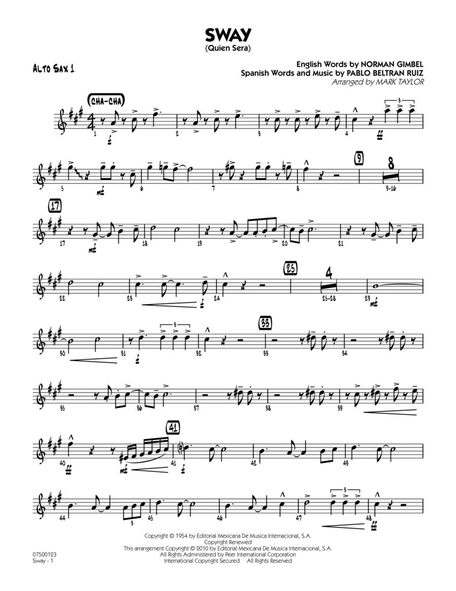 Sway (Quien Sera) - Alto Sax 1
