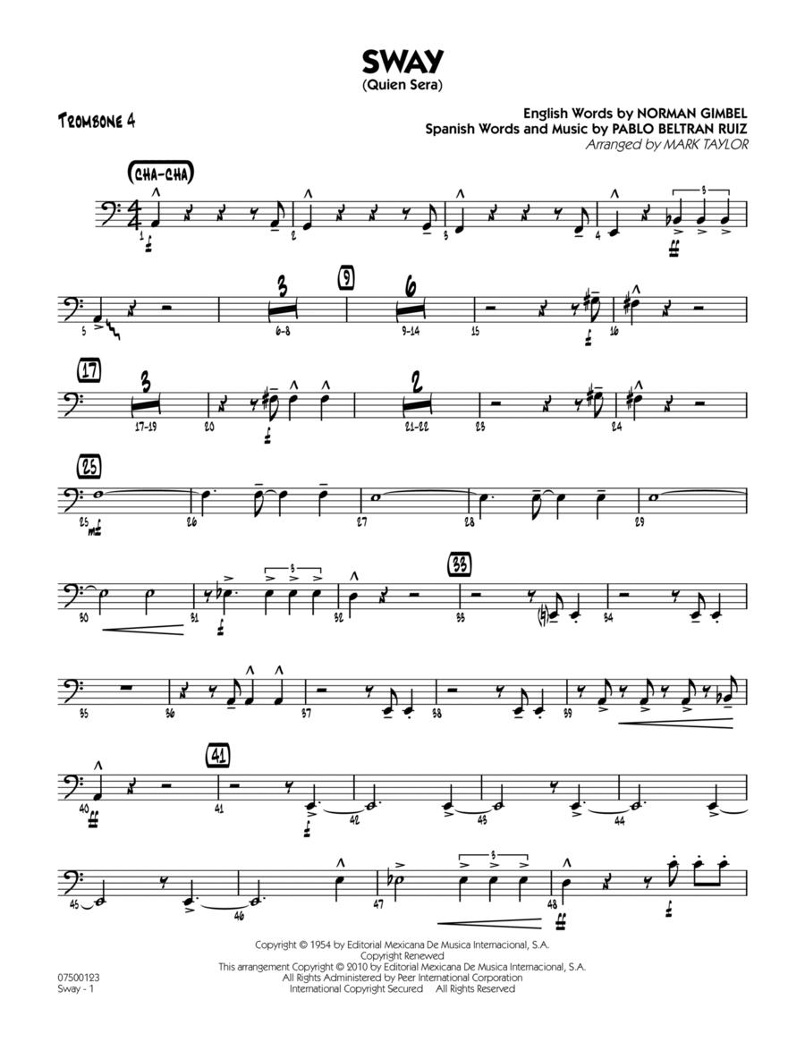 Sway (Quien Sera) - Trombone 4
