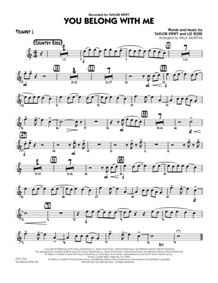 You Belong With Me - Trumpet 1