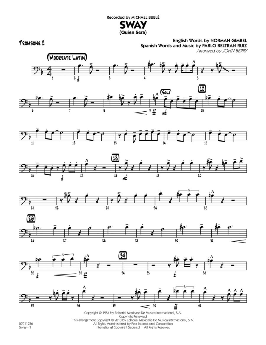 Sway (Quien Sera) - Trombone 2