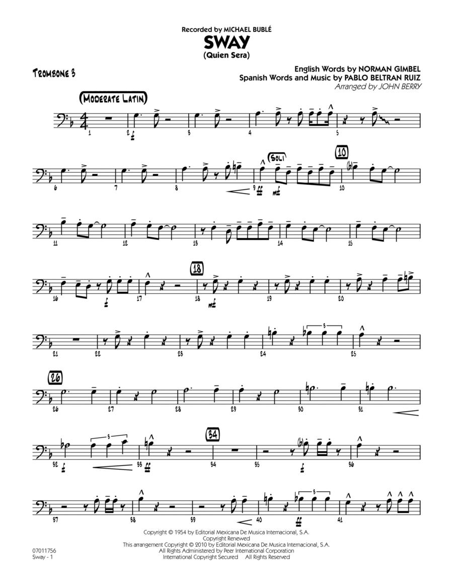 Sway (Quien Sera) - Trombone 3