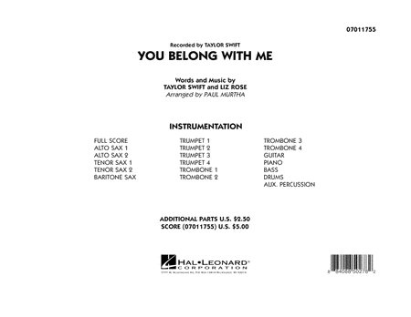 You Belong With Me - Full Score