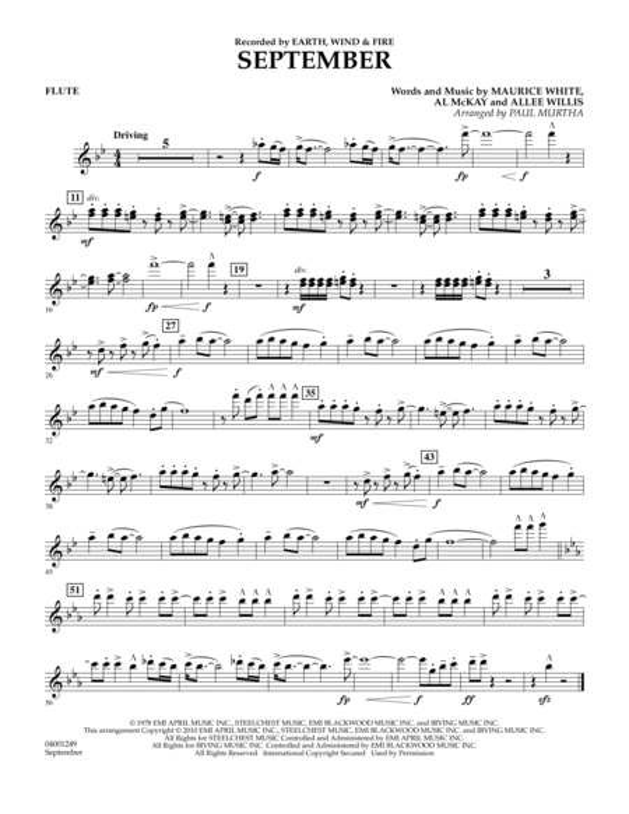 September - Flute