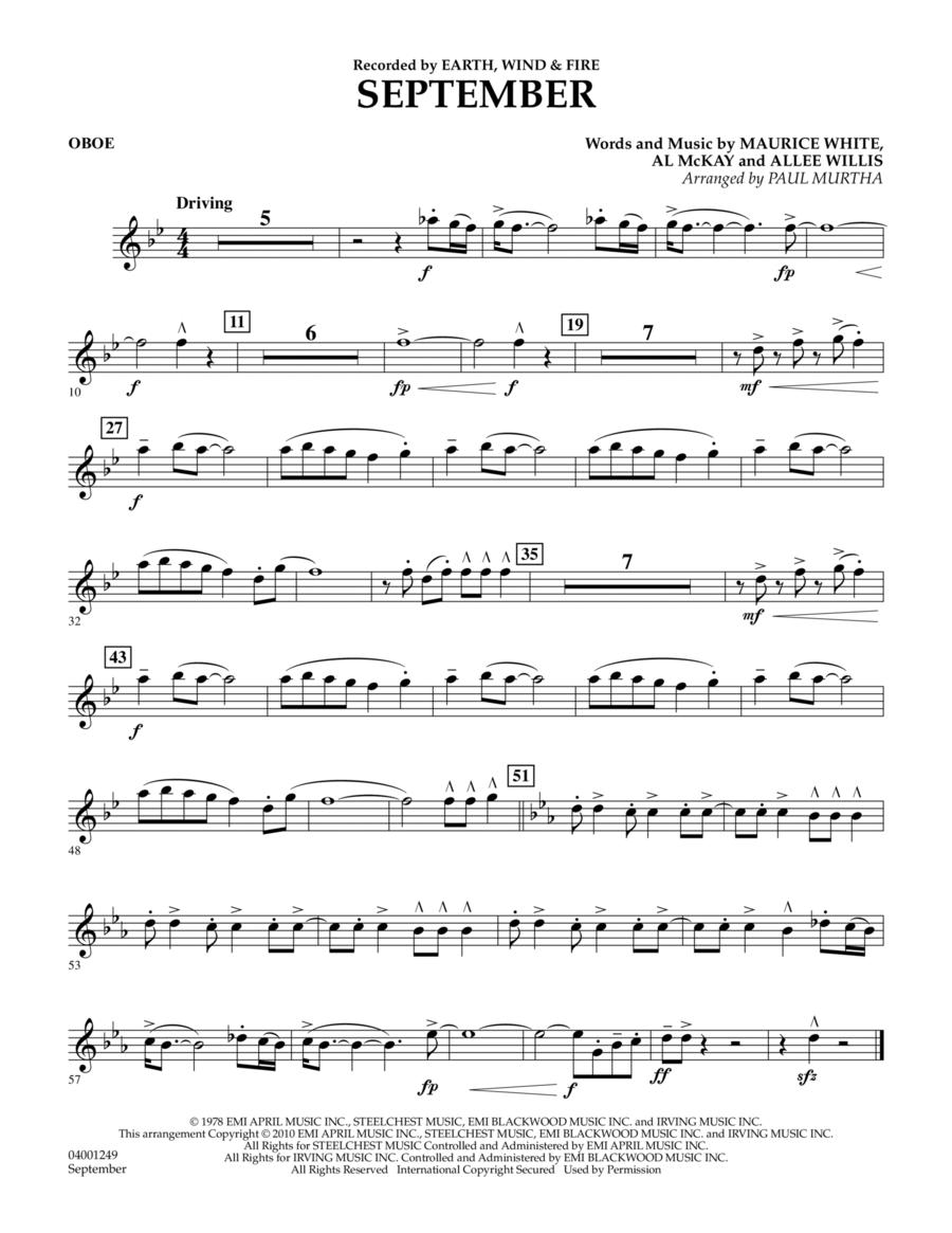 September - Oboe