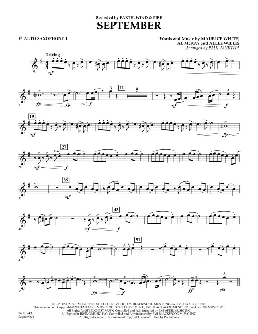 September - Eb Alto Saxophone 1