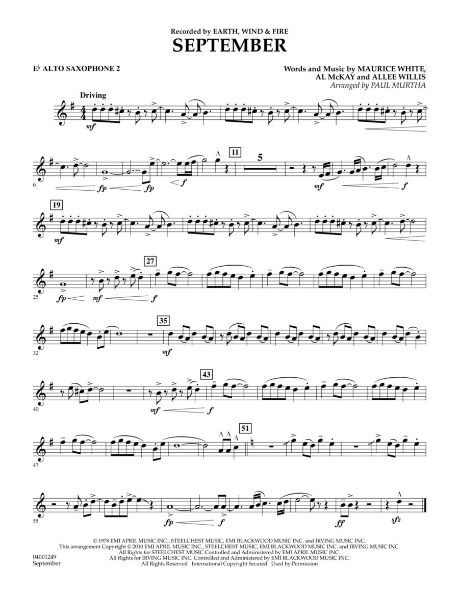 September - Eb Alto Saxophone 2