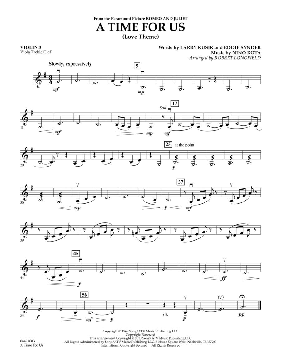 A Time For Us (Love Theme) - Violin 3 (Viola Treble Clef)