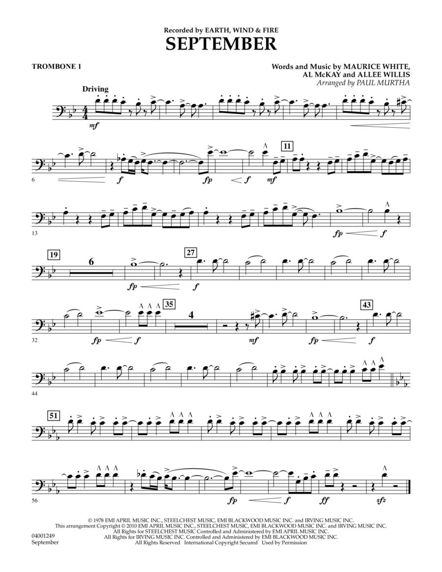 September - Trombone 1