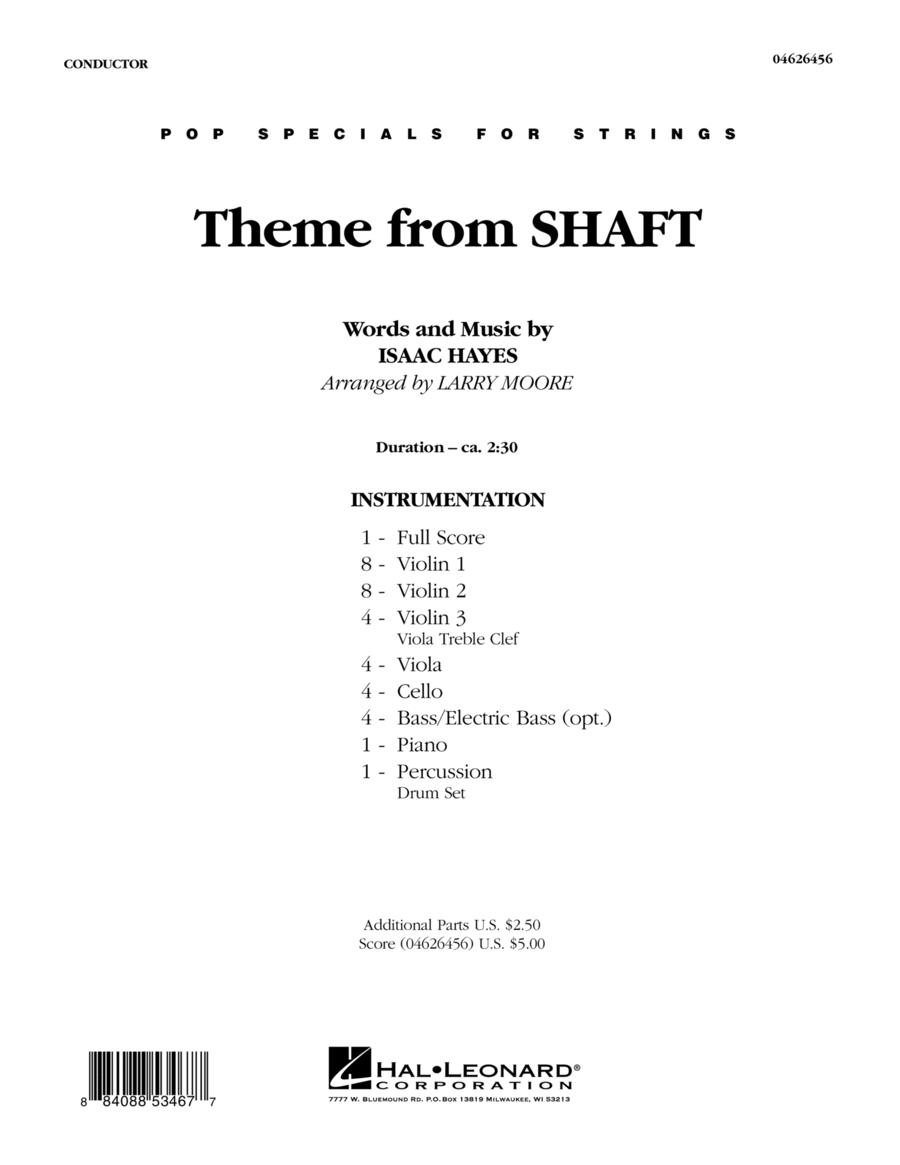 Theme from Shaft - Full Score