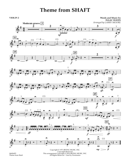 Theme from Shaft - Violin 2