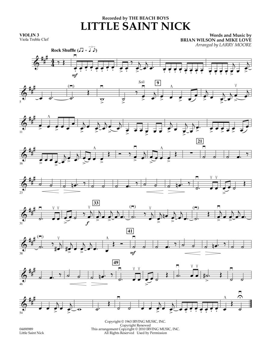 Little Saint Nick - Violin 3 (Viola Treble Clef)