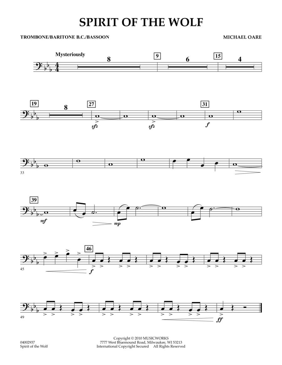 Spirit Of The Wolf - Trombone/Baritone B.C./Bassoon