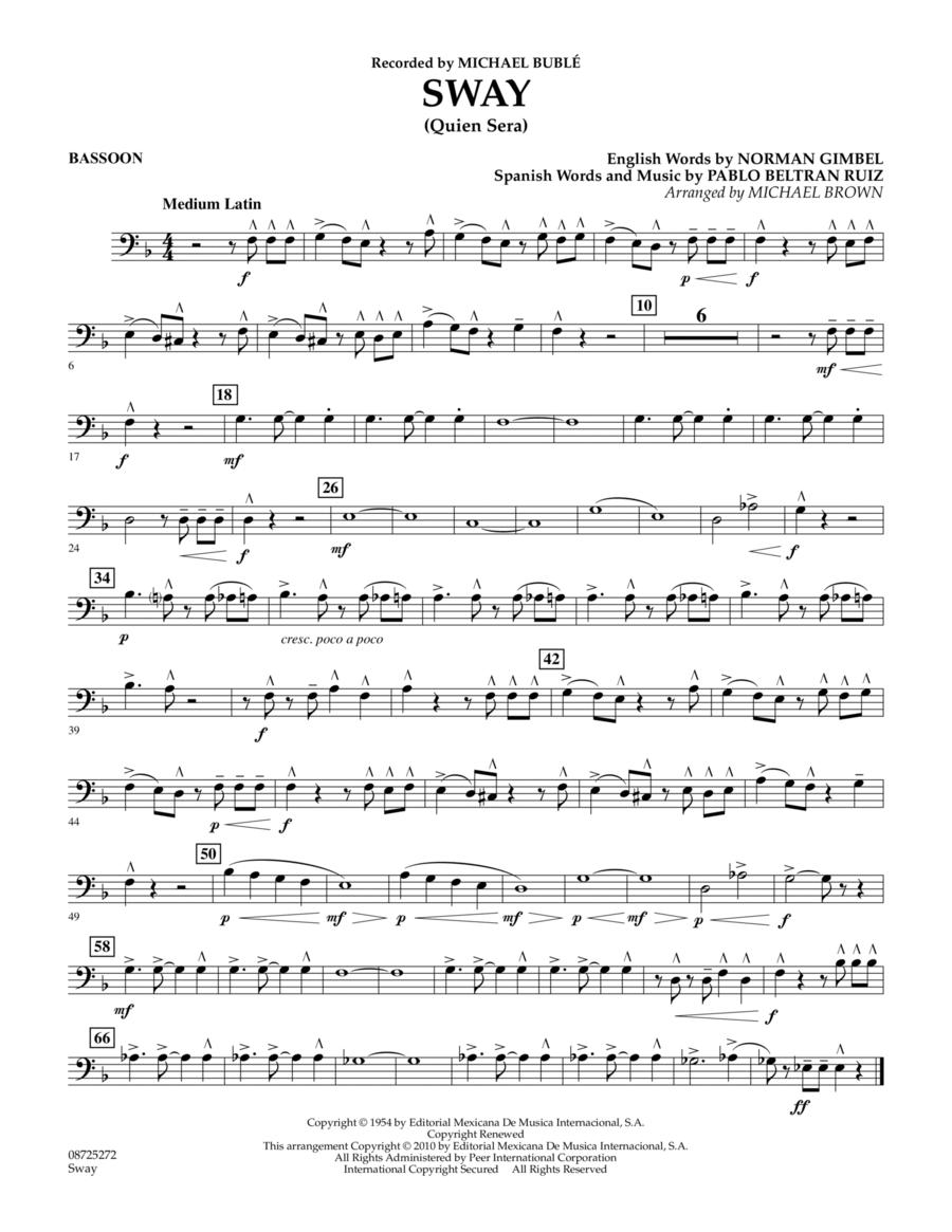 Sway (Quien Sera) - Bassoon