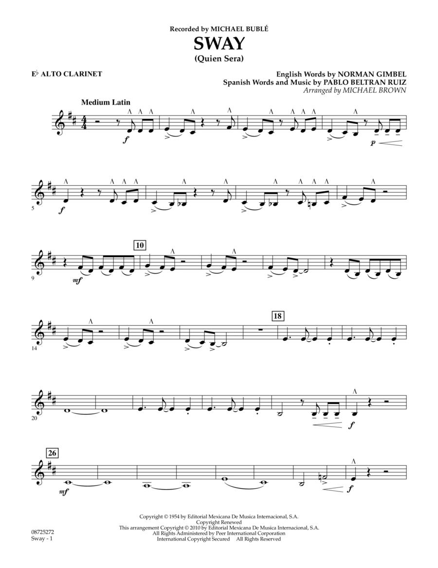 Sway (Quien Sera) - Eb Alto Clarinet