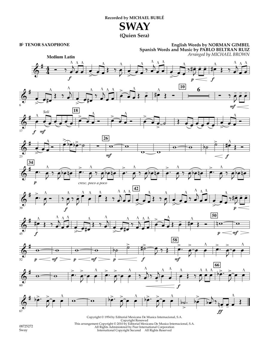 Sway (Quien Sera) - Bb Tenor Saxophone