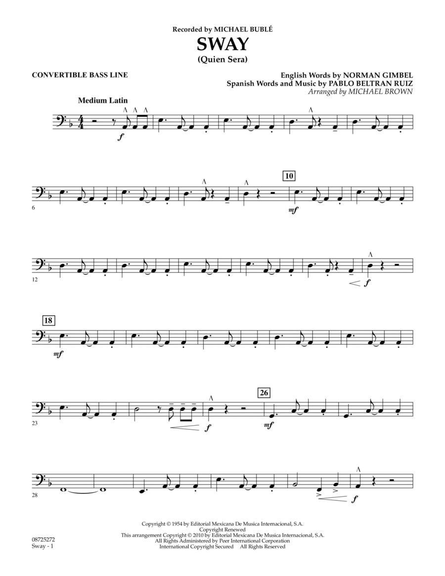 Sway (Quien Sera) - Convertible Bass Line
