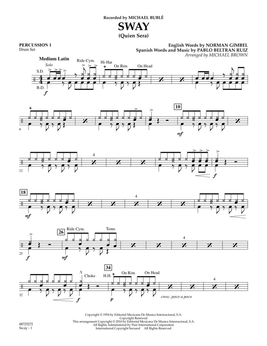 Sway (Quien Sera) - Percussion 1
