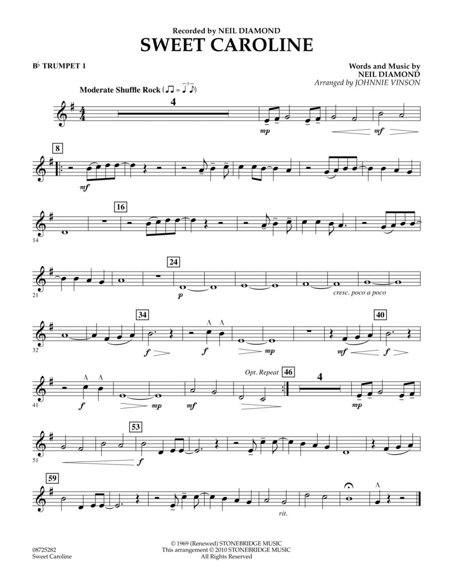 Sweet Caroline - Bb Trumpet 1