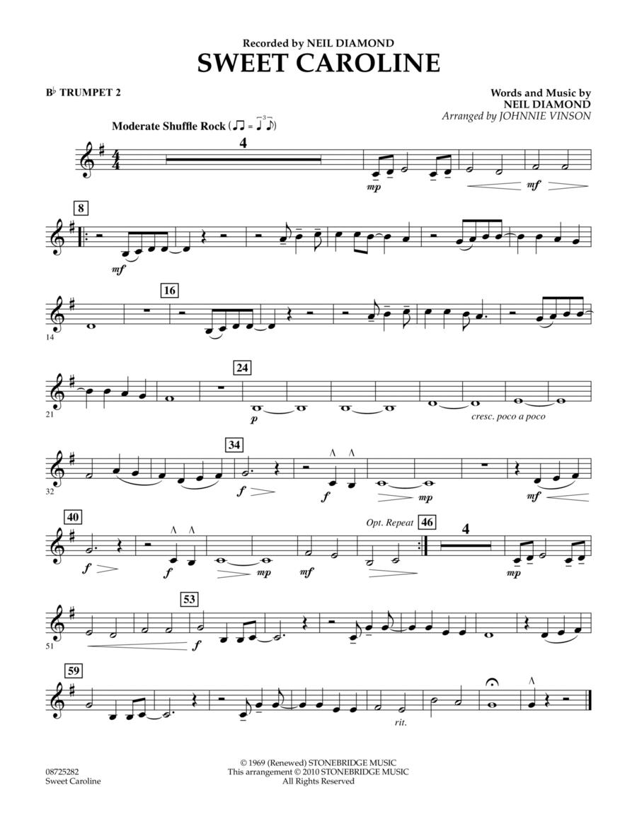 Sweet Caroline - Bb Trumpet 2