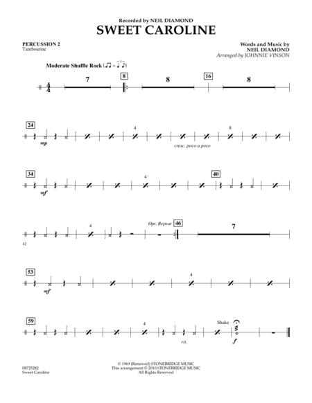 Sweet Caroline - Percussion 2