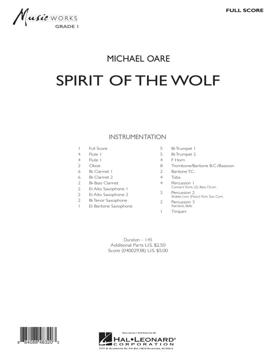 Spirit Of The Wolf - Full Score