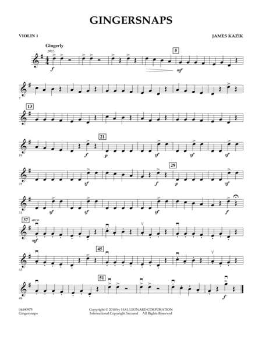 Gingersnaps - Violin 1
