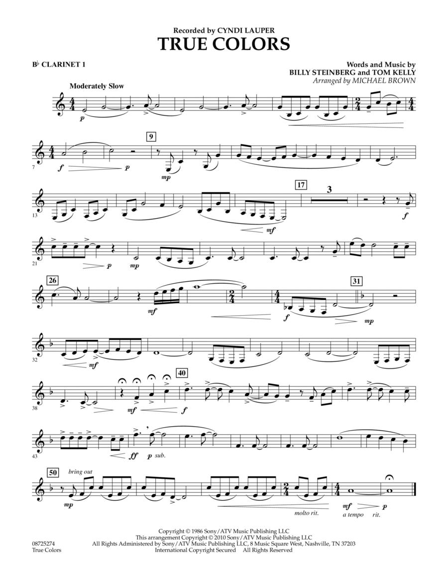 True Colors - Bb Clarinet 1