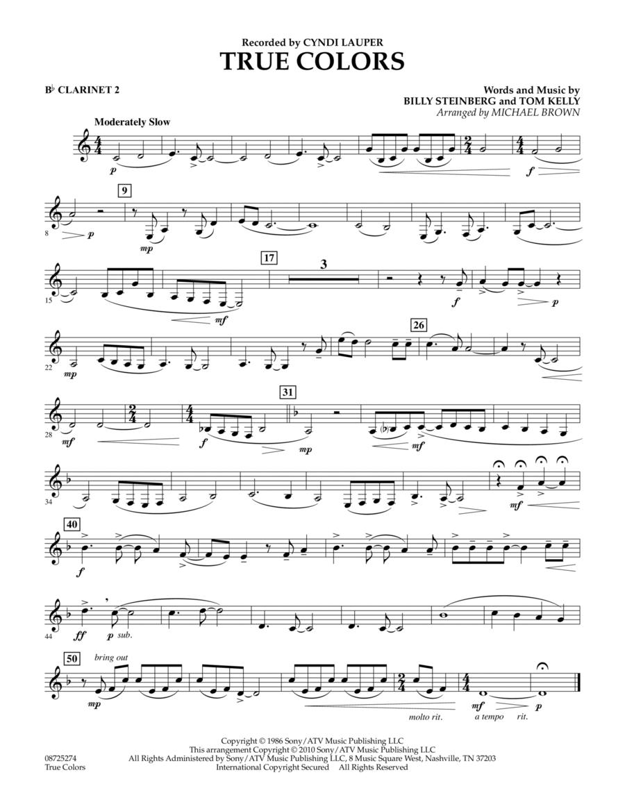 True Colors - Bb Clarinet 2