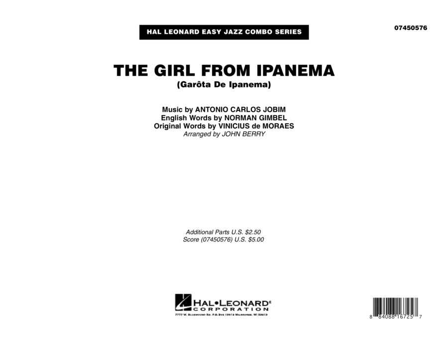 The Girl From Ipanema (Garota De Ipanema) - Full Score