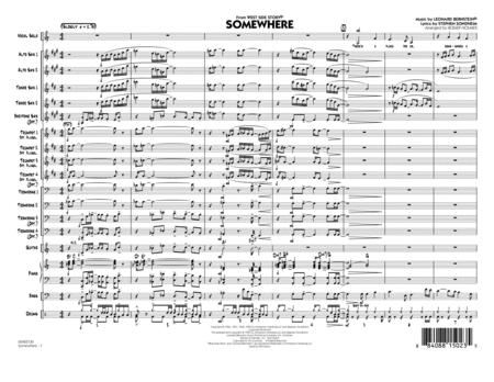 Somewhere (from West Side Story) - Full Score