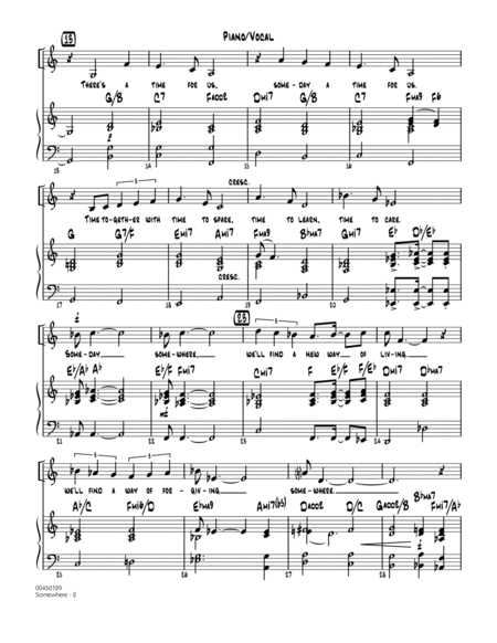 Somewhere (from West Side Story) - Piano/Vocal