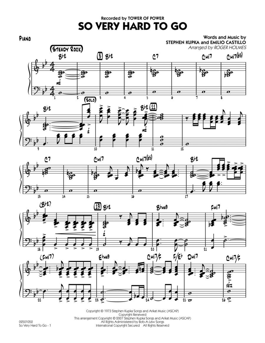 So Very Hard To Go - Piano