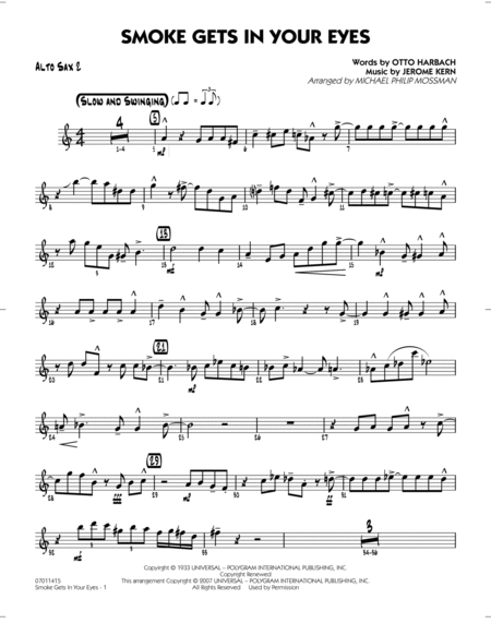 Smoke Gets In Your Eyes - Alto Sax 2