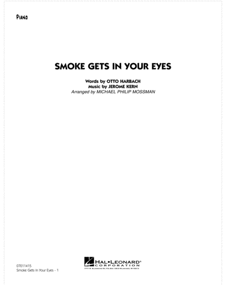 Smoke Gets In Your Eyes - Piano