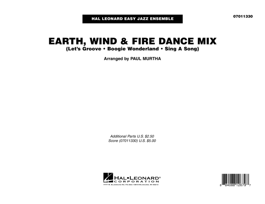 Earth, Wind & Fire Dance Mix - Conductor Score (Full Score)