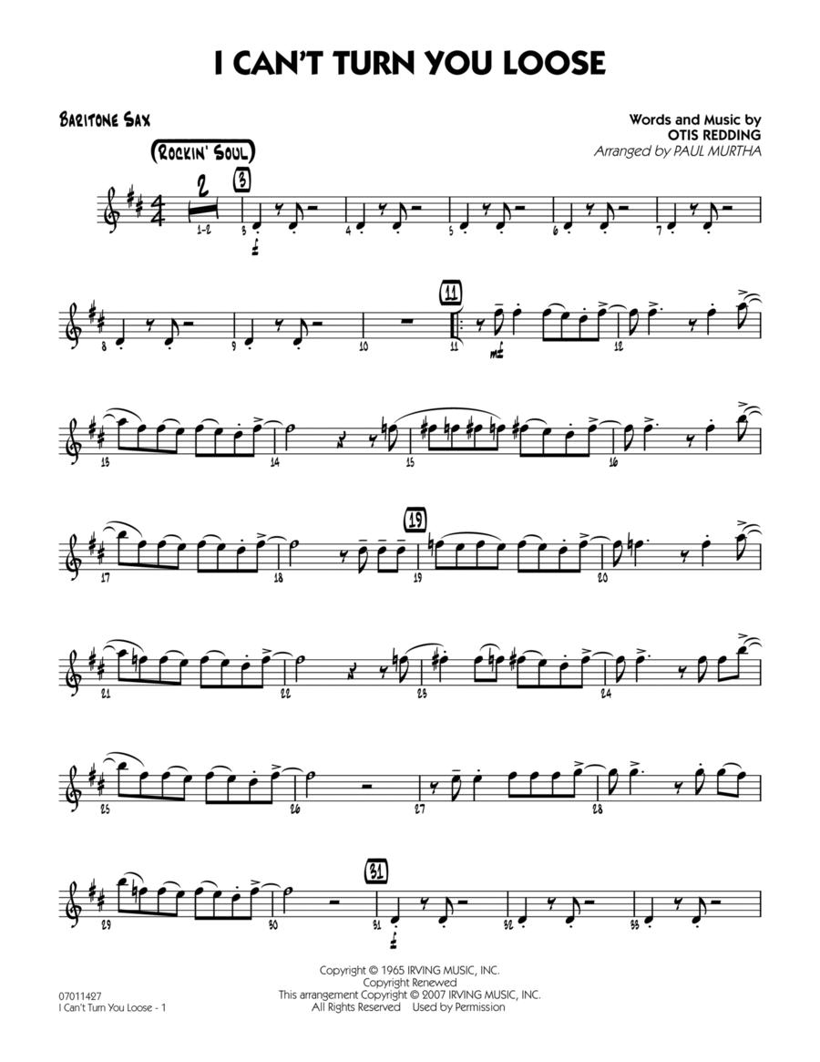 I Can't Turn You Loose - Baritone Sax