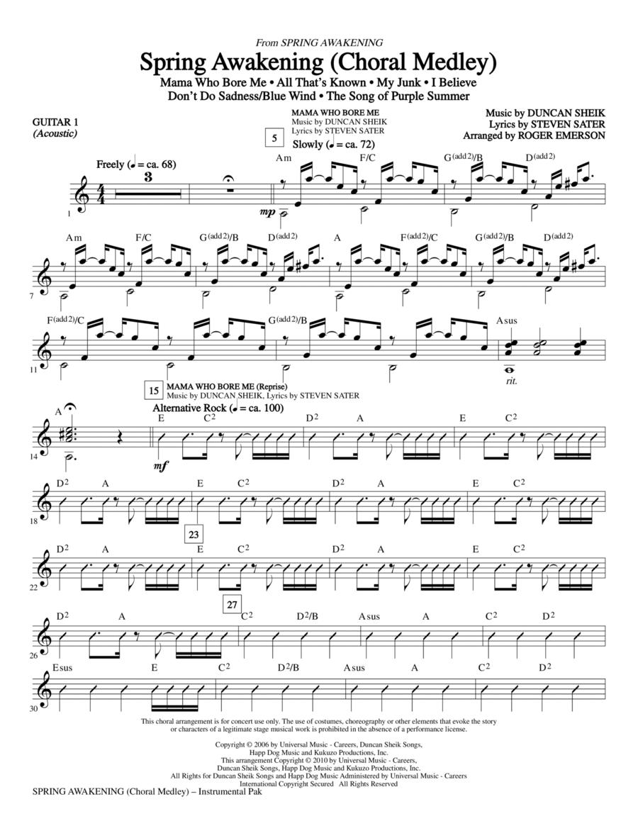 Spring Awakening (Choral Medley) - Guitar 1